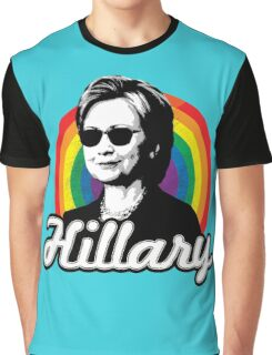 Rainbow Hillary Graphic T-Shirt