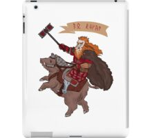 Dain crossing the Iron Hills iPad Case/Skin
