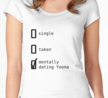 Mentally Dating Yoona - SNSD Women's Fitted Scoop T-Shirt