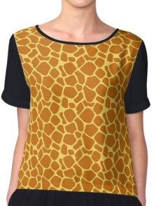 Animal Texture Skin Background 3 Chiffon Top