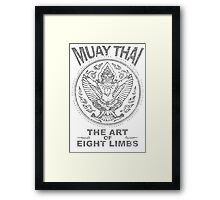muay thai garuda sacred spirit of thailand the art of eight limbs Framed Print