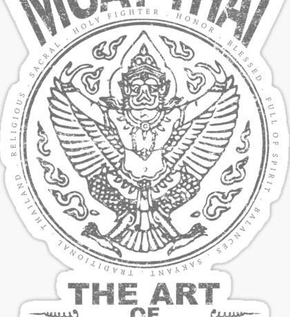 muay thai garuda sacred spirit of thailand the art of eight limbs Sticker
