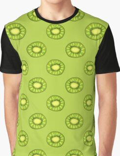 Kiwi Slices Pattern Graphic T-Shirt