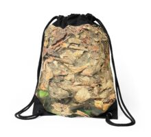 Leaves and Spiderwebs Drawstring Bag
