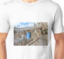 contraforte. Milan Cathedral Unisex T-Shirt
