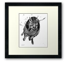Charging Boar Framed Print