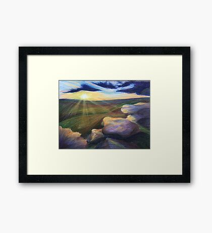 The Early Rays Framed Print