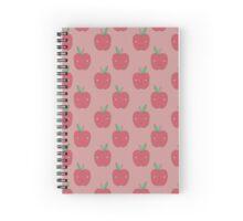 Kawaii Face Apple Pattern Spiral Notebook