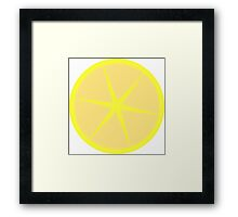Lemonade Stylish Cute Fun Fruit Design Framed Print