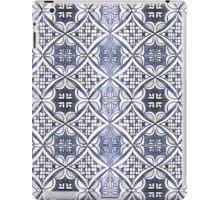 Watercolor Morrocan Tile pattern blue iPad Case/Skin
