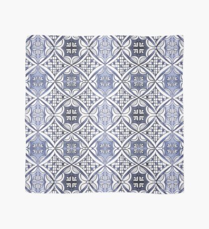 Watercolor Morrocan Tile pattern blue Scarf