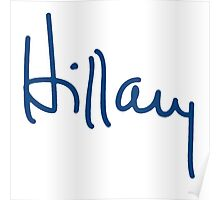 Hillary Autograph Poster