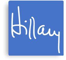 Hillary Signature Canvas Print