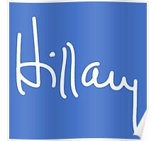 Hillary Signature Poster