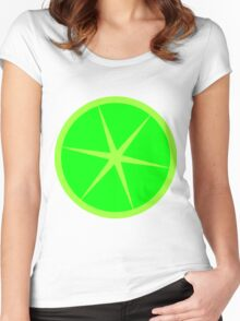 lime cute fun summer design Women's Fitted Scoop T-Shirt