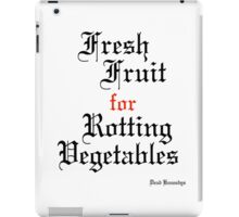Dead Kennedys Fresh Fruit for Rotting Vegetables iPad Case/Skin