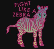 Fight Like A Zebra 2 Kids Tee