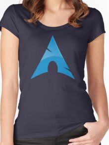 Arch Linux Logo Women's Fitted Scoop T-Shirt