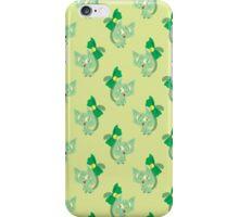 Green Ribbon Cat Pattern iPhone Case/Skin