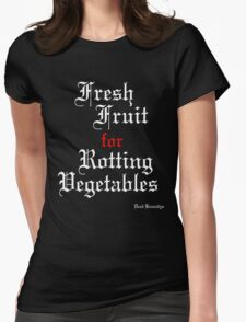 Dead Kennedys 'Fresh Fruit for Rotting Vegetables' (white) Womens Fitted T-Shirt