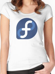 Fedora Logo Women's Fitted Scoop T-Shirt