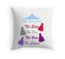 The Selection Titles Throw Pillow