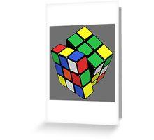 Rubik,s Cube  Greeting Card