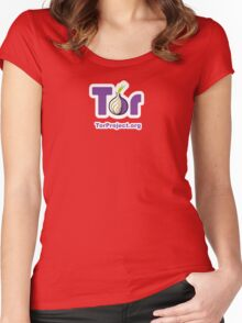 TOR Logo  Women's Fitted Scoop T-Shirt
