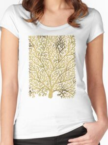 Gold Fan Coral Women's Fitted Scoop T-Shirt
