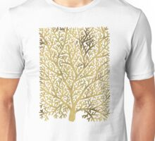 Gold Fan Coral Unisex T-Shirt