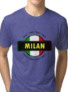 Milan, Italy Tri-blend T-Shirt