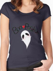 """""""Boo Positive"""" Women's Fitted Scoop T-Shirt"""