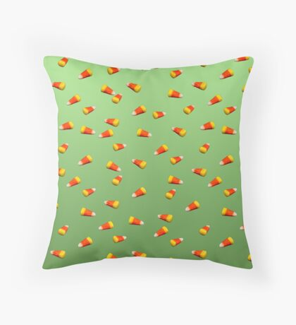 Candy Corn Throw Pillow