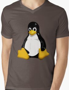 Tux - The Linux Penguin Mens V-Neck T-Shirt