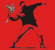 Flower man - Street art Kids Tee