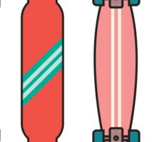 Longboard collection Sticker