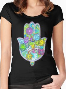 Chakras and the Hand of Fatima Women's Fitted Scoop T-Shirt
