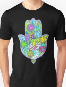 Chakras and the Hand of Fatima Unisex T-Shirt