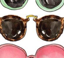 Five drawn sunglasses Sticker