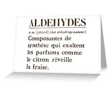 Aldehydes French Words Greeting Card