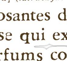 Aldehydes French Words Sticker