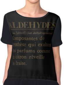 Aldehydes French Words Chiffon Top