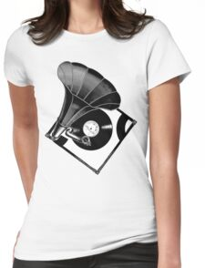 Music Phonograph Womens Fitted T-Shirt