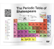 Periodic Table of Shakespeare Poster