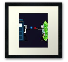 RICKTIONS IN TIME AND SPACE Framed Print