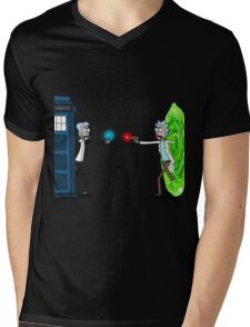 RICKTIONS IN TIME AND SPACE Mens V-Neck T-Shirt