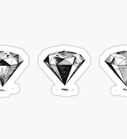 3 Diamonds Sticker