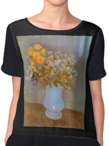 'Lilacs' by Vincent Van Gogh (Reproduction) Chiffon Top
