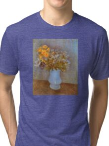 'Lilacs' by Vincent Van Gogh (Reproduction) Tri-blend T-Shirt