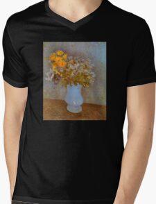 'Lilacs' by Vincent Van Gogh (Reproduction) Mens V-Neck T-Shirt